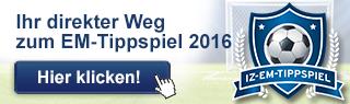 Das IZ-Tippspiel zur Europameisterschaft 2016. Jetzt anmelden und tolle Preise gewinnen