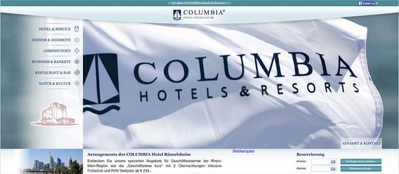 Bild: IZ/Screenshot der Website www.columbia-ruesselsheim.de
