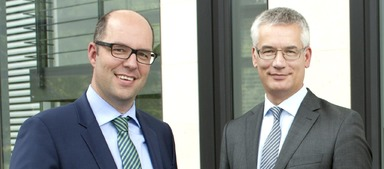 Werben um Bewerber: Goldbeck- Geschäftsführer Christian Büscher und Personalchef Jürgen Eggers.