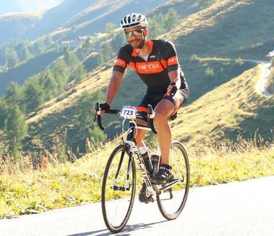 Thomas Meyer auf großer Tour beim Ötztaler Radmarathon 2015.