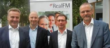 Das Präsidium bzw. der Vorstand von Real FM (v.l.n.r.): Heinrich Quaderer, Jochen Wiener, Thomas Knoepfle, Jörg Petri (es fehlt Dr. Alexandra Merkel).