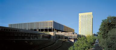 Der Gebäudekomplex des Europäischen Gerichtshofs in Luxemburg.