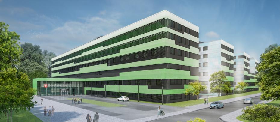 grundsteinlegung f r passivhausklinik in frankfurt. Black Bedroom Furniture Sets. Home Design Ideas