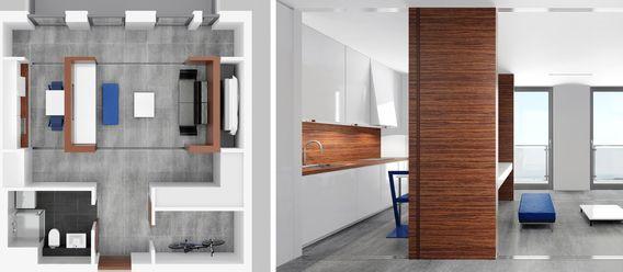 Mit gleitenden Wänden bleibt der Grundriss flexibel
