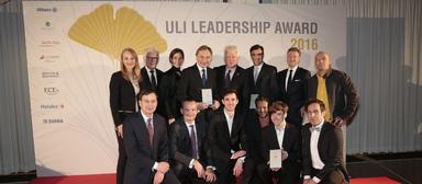 Die Sieger und Laudatoren des ULI Germany Leadership Awards 2016.