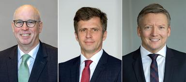 Dietmar Amels, Oliver Gabrian, Thomas Schwarzenbacher (v.l.n.r.).