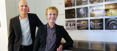 Empfangskomitee von CBRE Germany: COO Mark Spangenberg und Jacobé Gölz, Head of Human Resources.