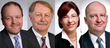 Jan Schmitz, Rüdiger Jansen, Anett Richter und Ulrich Müller (v.l.n.r.).