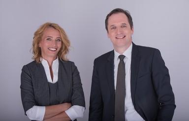 Edina Szabó (li.) und Carsten Buschmann stellen die RVI-Führung.