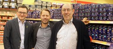 Geschäftsführung von Das Futterhaus: Klaus Meyer-Kortenbach, Andreas Schulz und Herwig Eggerstedt (v.l.n.r.)