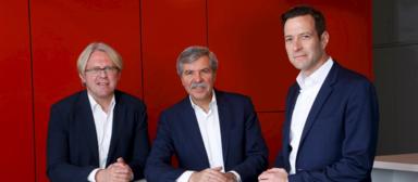 Die geschäftsführenden Gesellschafter von AS+P (v.l.n.r.): Joachim Schares, Friedbert Greif, Axel Bienhaus.