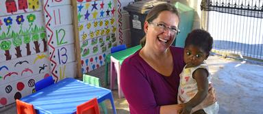 Christine Bernhofer arbeitete drei Monate lang in einem Kindergarten in Kapstadt. Insgesamt dauerte ihr Sabbatical rund anderthalb Jahre.