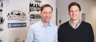 Die beiden Geschäftsführer von realbest, Mathias Baumeister (links) und Oskar Handrick.