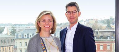 Sandra Scholz rückt in den Vorstand der Commerz Real um Andreas Muschter auf.