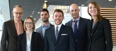 Gefma-Förderpreisträger 2017 v.l.n.r.: Ulrich Dempf, Silvia Plettenberg, Timo Guhl, Roman Peischer, Dr.-Ing. Sebastian Johann und Hauptpreisträgerin Corinna Keller.