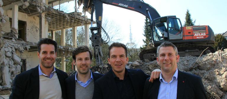 Die vier Exporo-Gründer von links nach rechts: Tim Bütecke, Julian Oertzen, Simon Brunke und Björn Maronde.