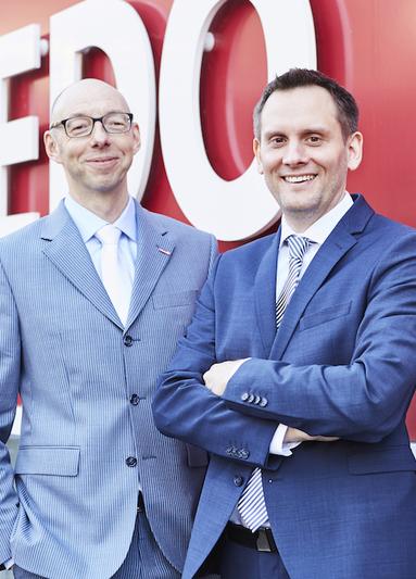 Der Wogedo-Vorstand: Andreas Vondran, links, und Dirk Mowinski, rechts.