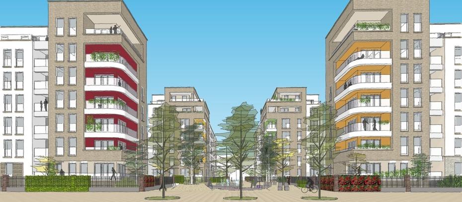Swi baut 620 wohnungen an der galluswarte - Planquadrat architekten ...