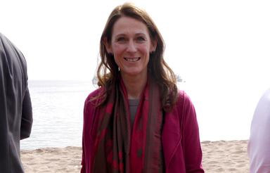 Barbara Knoflach, hier zu sehen in Cannes auf der diesjährigen internationalen Immobilienmesse Mipim.