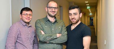 Moussa Sheikh Akriem, Mazen Ibo und Mohammad Bashar Al Ali haben nach ihrer Flucht aus Syrien bei der Gewobag eine neue berufliche Heimat gefunden.