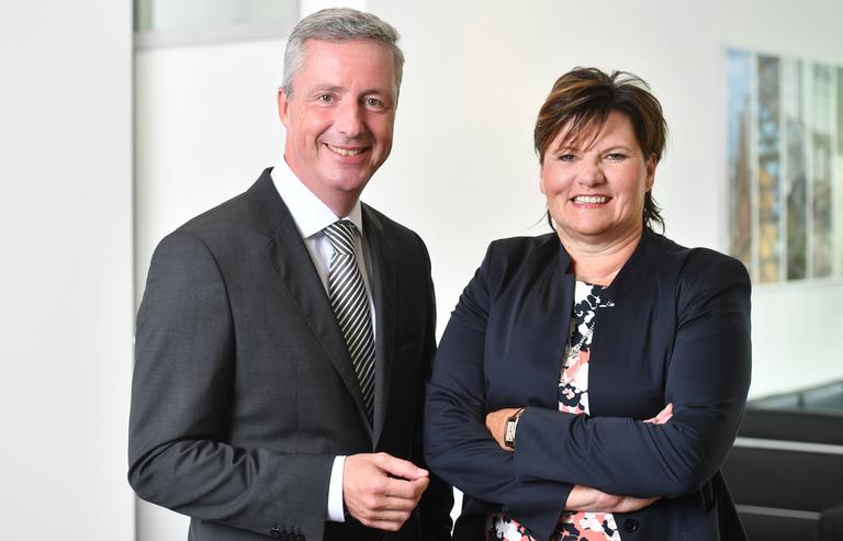 Die neue Geschäftsführung des BLB NRW: Marcus Hermes und Gabriele Willems.