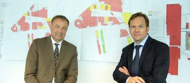 Stefan Andraschak (r.) und Axel Funke auf einem Bild von 2012. Funke und Andraschak führten damals Multi Deutschland.