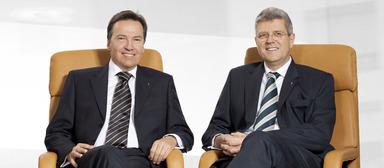 Wollen es künftig etwas gemütlicher angehen lassen: Wolfgang Dippold (links) und Jürgen Seeberger ziehen sich aus dem operativen Geschäft der Project-Gruppe zurück.