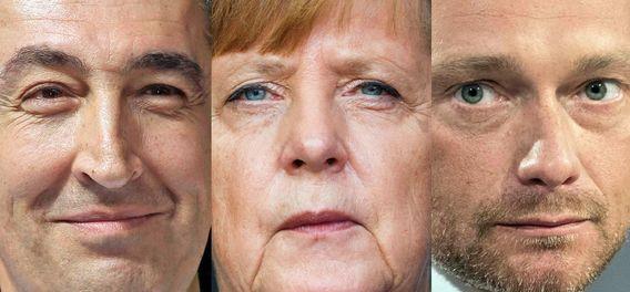Cem Özdemir, Quelle: imago, Urheber: Alexander Pohl, Angela Merkel, Quelle: imago, Urheber: Socher/Eibner-Pressefoto, Christian Lindner, Quelle: imago, Urheber: Sven Simon
