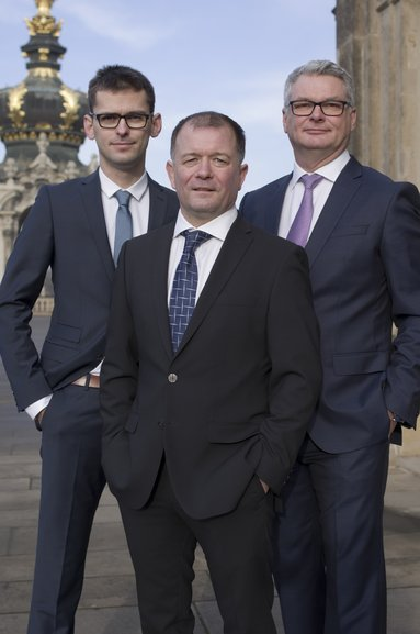 Die Geschäftsführung von Der Immo Tip (v.l.n.r.): Martin Schatz, Wolf-Hagen Grups, Uwe Schatz.
