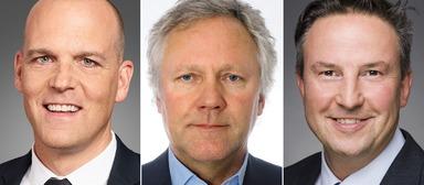 Die verschlankte Geschäftsführung von CBRE Preuss Valteq hat nur noch drei Köpfe, nämlich die von Mark Spangenberg (links), Jürgen Kreisel (Mitte) und Jürgen Scheins.