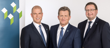Das Führungs-Trio des VdW Bayern (v.l.): Andreas Pritschet, Hans Maier, Stefan Roth.