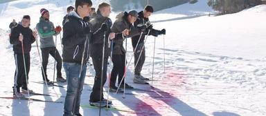 Beweisen mussten sich die Azubi-Kandidaten u.a. im Skilanglauf.
