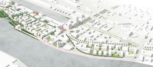 Bremen: Entwurf für 750-Mio -Euro-Quartier Überseeinsel