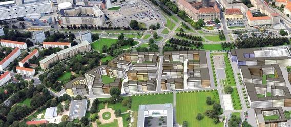 Quelle: Immovation AG, Urheber: Jürgen-M. Schulter (Luftbild)/Peter Kulka Architektur (städtebauliche Gesamtkonzeption)