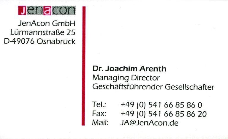 Dr Joachim Arenth
