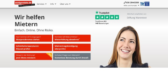 Screenshot: wenigermiete.de