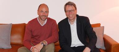 Wollen sich in absehbarer Zeit an Supermärkten versuchen, die Arbeit machen: Marcus Neumann (links) und Martin Leinemann.