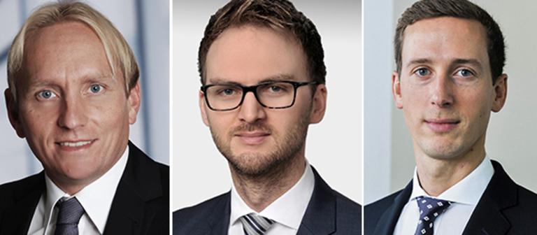 Jörg Lojewski, Stefan Imken und Clemens Kerscher (v.li.).