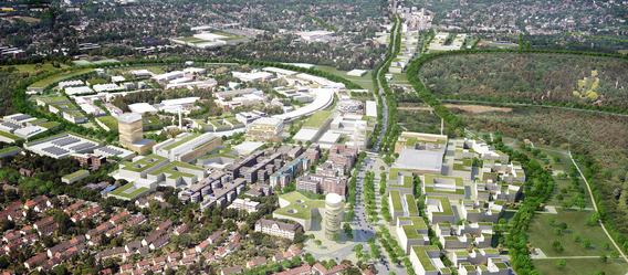 Quelle: Spengler Wiescholek Architekten Stadtplaner, WES GmbH Landschaftsarchitekten, Urban Catalyst GmbH, Luftbild: Matthias Friedel, Urheber: Moka-studio
