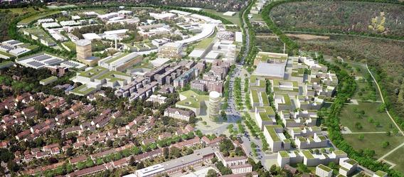 Quelle: Spengler Wiescholek Architekten, WES Landschaftsarchitekten, Urban Catalyst, Luftbild: Matthias Friedel, Urheber: moka-studio