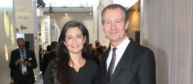 Inga Beyler und Thomas Flohr im Jahr 2017 auf der Expo Real.