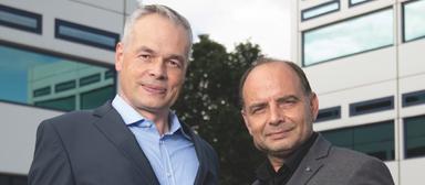 Torsten Wollenberg (links) und Dietmar Schreyer bilden die Ostra-Geschäftsführung.