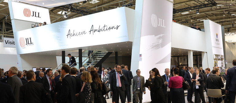 JLL-Messestand auf der Expo Real 2017.