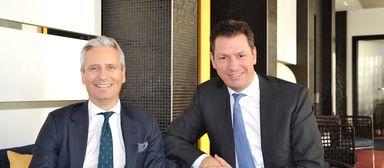 Noch vereint: Emea-CEO Guy Grainger (links) und Timo Tschammler.