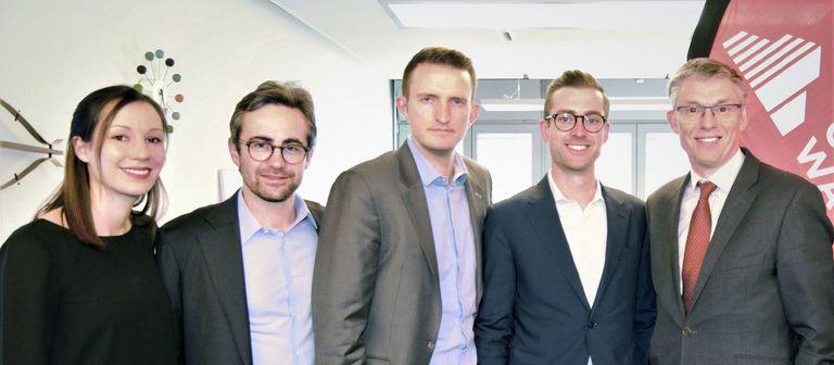 Gestatten, das neue deutsche Hotelteam von C&W samt Europachef (v.l.): Nora Bruskowski, Josef Filser, Christian Kirchhoff, Stefan Giesemann und Jonathan Hubbard.