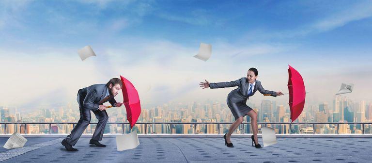Solide Arbeitgeber knicken auch bei Gegenwind nicht so schnell ein.