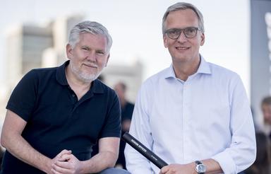 Joachim Gripp (rechts) hat den Staffelstab schon von Design-Offices-Gründer Michael O. Schmutzer übernommen.