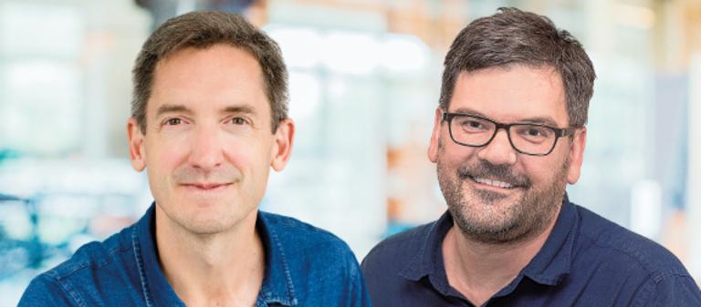 Der neue und der alte Chef: Eric Aplyn (links) und Stefan Zanetti.