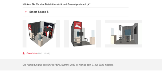 Quelle: https://exporeal.net, Screenshot: Immobilien Zeitung
