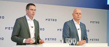 Olaf Koch (rechts) mit Metro-Finanzvorstand Christian Baier.